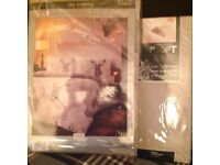 Stag design single bed cover and single bed sheet set
