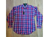 NEW Tommy Hilfiger Checkered Dress Shirt - S