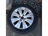 Citreon c3 alloy wheel and new tyre