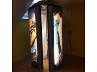 Ergoline Lounge Stand Up Sunbed with Changing Room