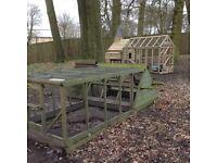 Chicken hen coop shed run