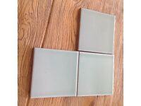Wall tiles and tile adhesive