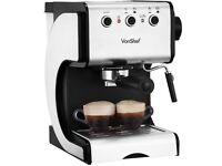 VonShef 15 Bar Pump Espresso Coffee Maker Machine Stainless Steel - Lattes, Cappuccinos etc
