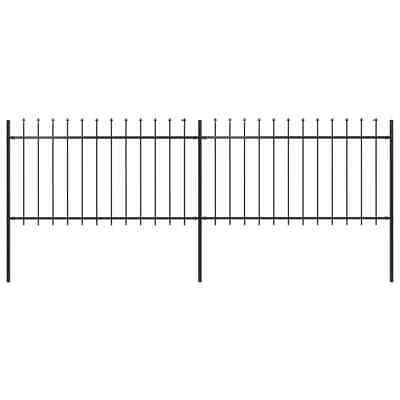 vidaXL Garden Fence Spear 3.4x1m Outdoor Panels Barrier Border