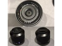 Sony/Zeiss FE2.8/35 lenes+ 49mm B+W UV filter