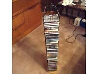 CD RACK WITH ASSORTED CD's