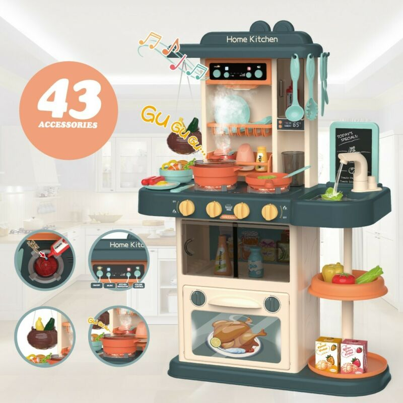 Kitchen Playset With Light Sound Effect Pretend Child Kids P