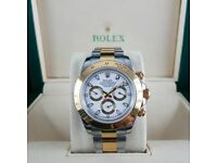 New Twotone Daytona With White Dial Comes Rolex Bagged and Boxed with Paperwork