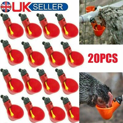 20PCS Automatic Feeder Chicken Poultry Water Drinking Cups for Poultry Chick Hen