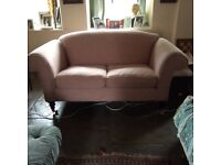 Beautiful pink sofa for sale, 2 seater, elegant shape, great condition