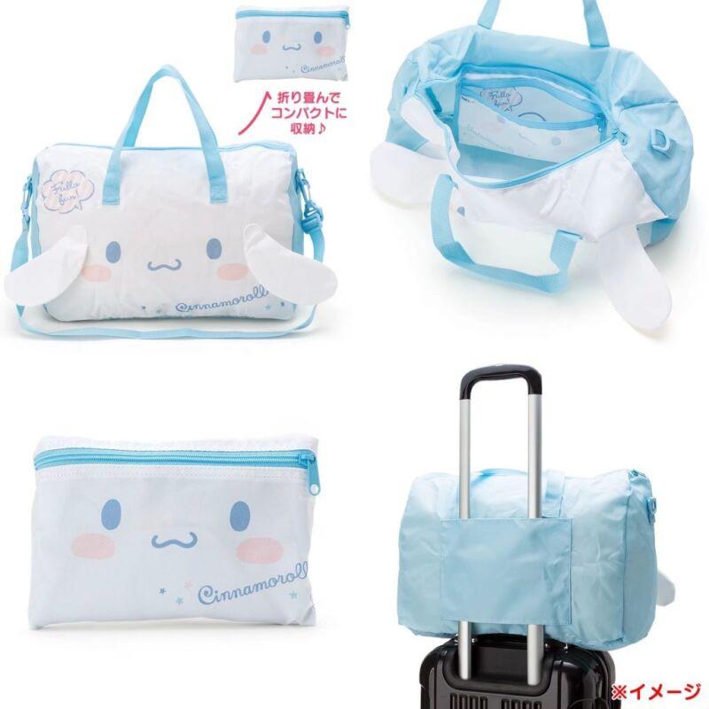 New Sanrio Cinnamoroll Handbag Large Travel Carry Bag Cross Body +Small Bag Gift