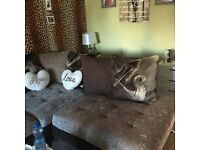 Sofology Brown 3/2 left hand facing corner sofa
