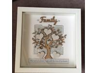 Family tree box frame, Personalised, gift, Mother's Day, love.