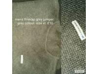 Mens grey firetrap jumper