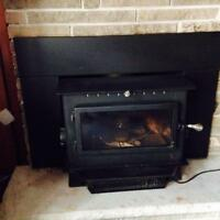 Wood Burning Fireplace Insert with Electric blower