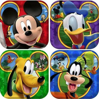 Mickey Mouse Cake Decorations (Mickey Mouse Birthday Party Supplies Decorations Dessert Cake Plates 24)