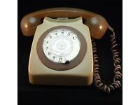 Original BT Vintage Retro 8746R Two Tone Telephone Prop Yeoman