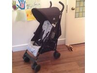 Maclaren Quest Sport Stroller Black / Silver including raincover and travel storage bag