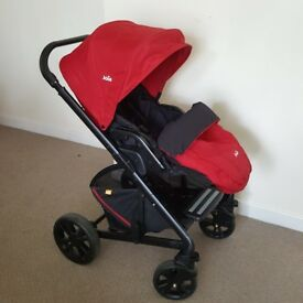 Bundle Joie Chrome Pushchair + Carrycot +Carseat