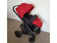 Joie Chrome Pushchair + Carrycot +Carseat