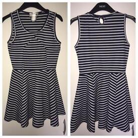 Miuimi Navy Stripe Skater Dress