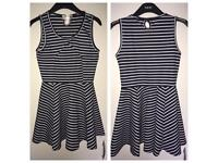 Miuimi Navy Stripe Skater Dress