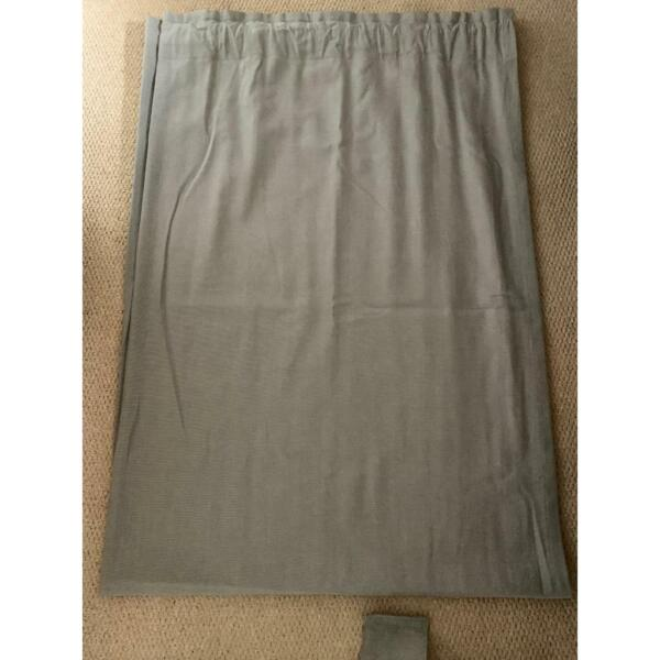 Pair of grey curtains with fabric tie backs (208cm height x 140cm width) for sale  Guildford, Surrey