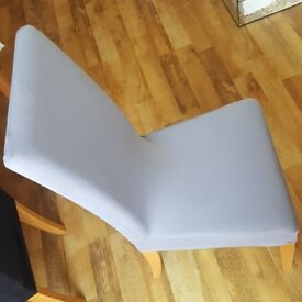 6 grey chairs covers