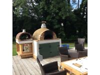 Pizza oven fireplaces