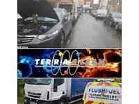 Terraclean services wrong fuel drains car diagnostics