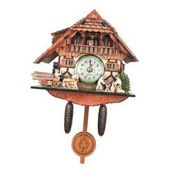 Antique Style Carved Cuckoo Wall Clock Pendulum Clock Craft Art Clock G