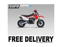 KURZ NIPPA 50A Off Road Pit Bike 58cm Seat Height Childs Pitbike FREE UK MAINLAND DELIVERY