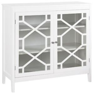 Linon Home Décor BYCA6546 Modern Large Cabinet - White (Assembled)
