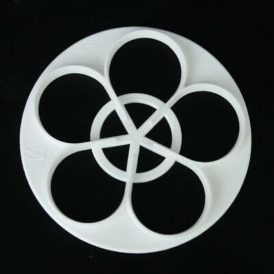 White Five Petal Rose Cutter Mold For Sugarcraft And Cake Decorating 5 Sizes - Petal Rose Cutter