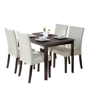 *NEW* CORLIVING DINNING SET (TABLE & 4 CHAIR)