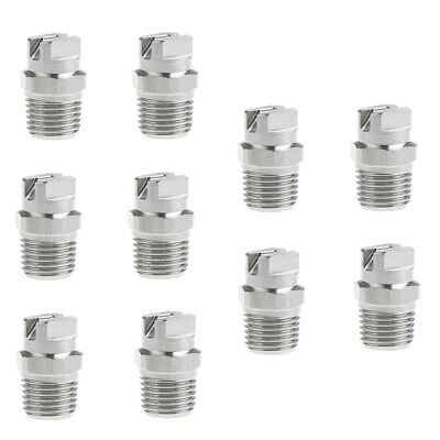 10pcs 14 High Pressure Washer Spray Nozzle Tip 65 Degree Stainless Steel