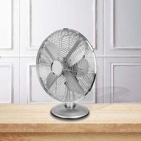 """12"""" Desk Fan (CHROME)"""