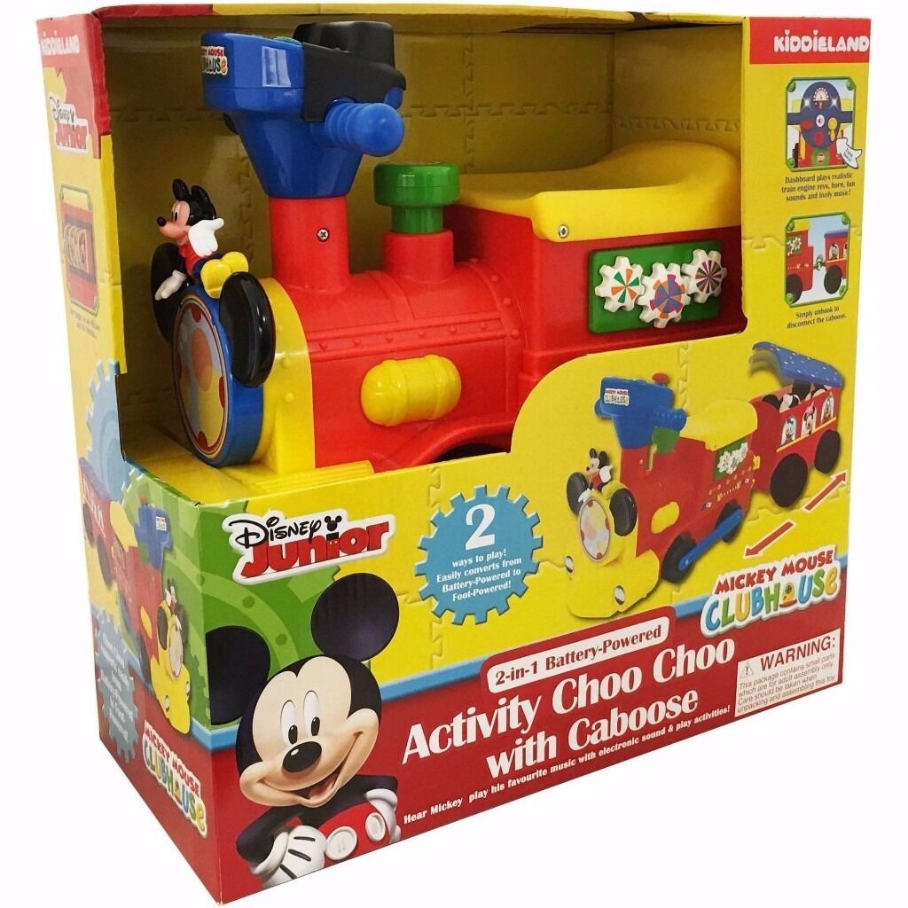 2 In 1 Battery Powered Mickey Mouse Activity Choo Choo Train In