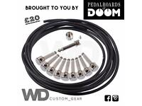 Solderless DIY guitar patch cable kit