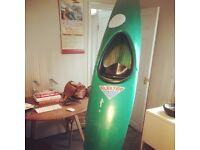 Childs kayak / canoe - fibreglass - approx 340cm / 11ft