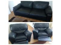 Black leather sofa suite can deliver today