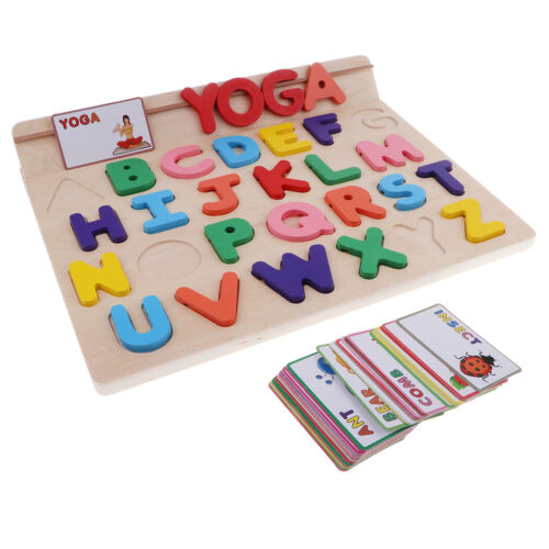 Wooden Puzzles Alphabet Educational Toys for 1 Year Old Girl