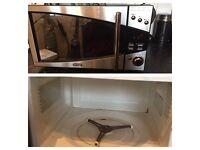 Delonghi Black Mirror Front Microwave