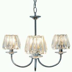 Laura Ashley 3 tier chrome chandelier