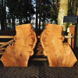 Large English Burr Pippy Oak Boards Furniture Timber Wood