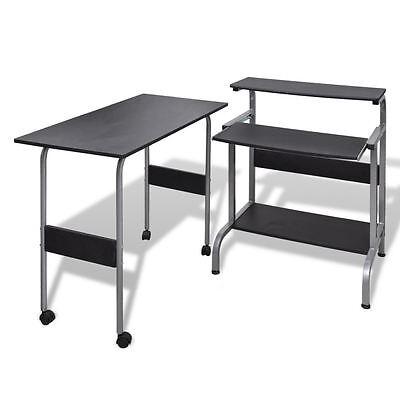 Desk Computer Table Home Office Furniture Workstation Laptop Student Study Black