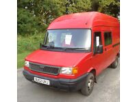 2002 LDV Convoy Crewvan,MOT 24/8/2017,fsh,5 seats but has 7,111k miles,great runner,possible camper