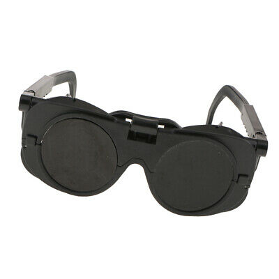 Welding Cutting Soldering Goggles Flip Up Eye Protection Dual Lens Glasses