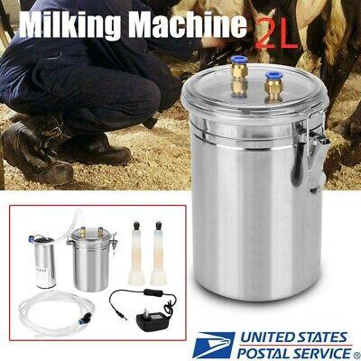 2l Electric Barrel Milking Machine Portable Vacuum Pump For Cow Goat Milker Tank