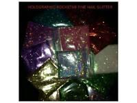 Christmas nail glitter can add to acrylic powder or gel